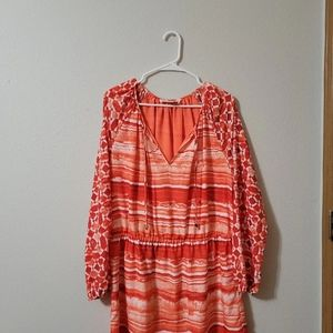 Michael Kors size 12 coral and white dress